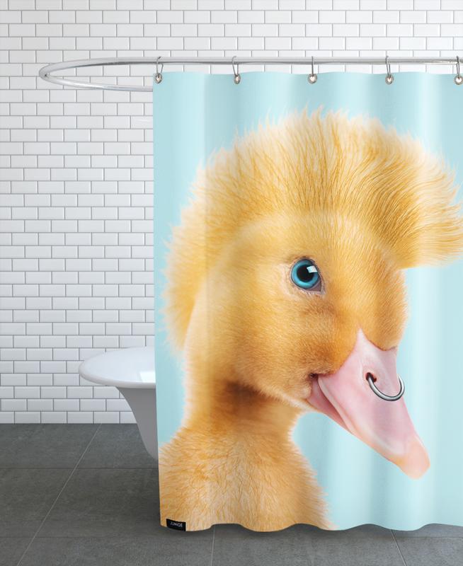 Rebel Duckling -Duschvorhang