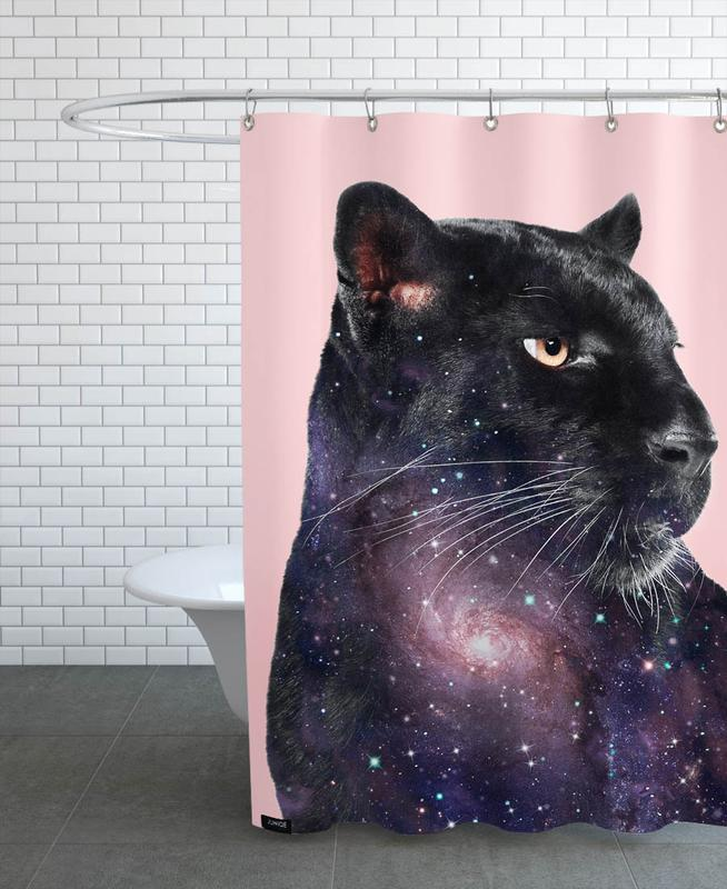 Galaxy Panther Shower Curtain