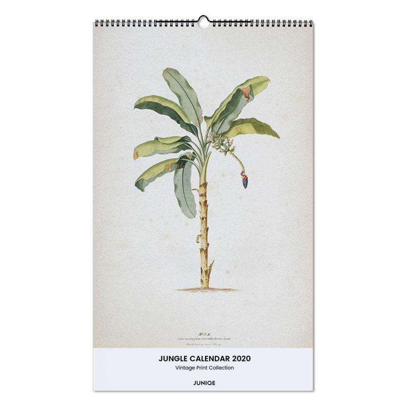 Jungle Calendar 2020 - Vintage Print Collection Wall Calendar