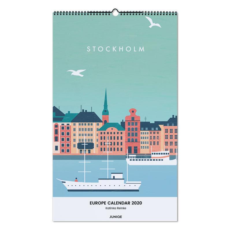 Europe Calendar 2020 - Katinka Reinke calendrier mural