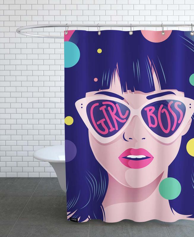 Girl Boss Shower Curtain