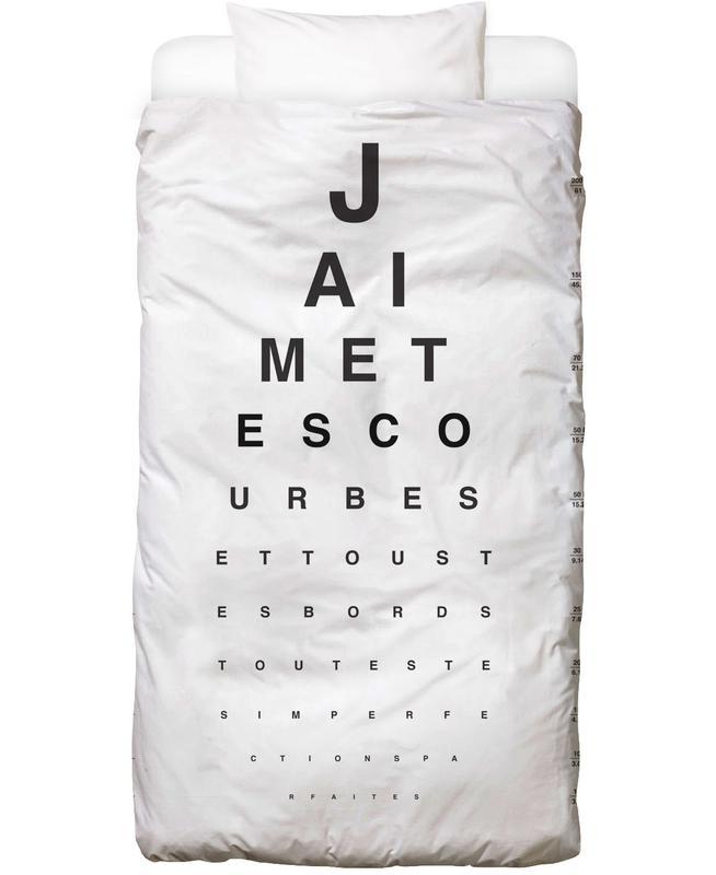 Eye Chart Je t'aime Bettwäsche