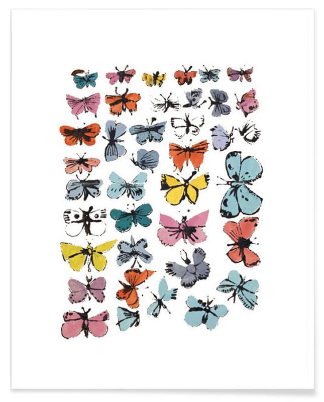 Andy Warhol - Butterflies, 1955 affiche