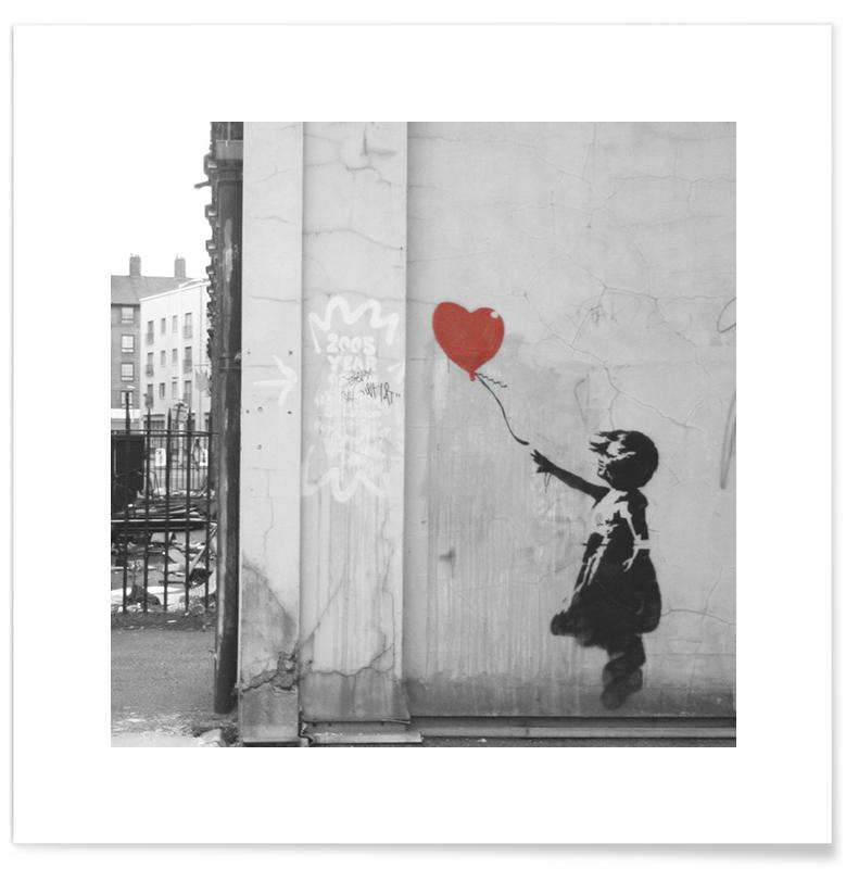 Banksy Girl with Red Balloon affiche