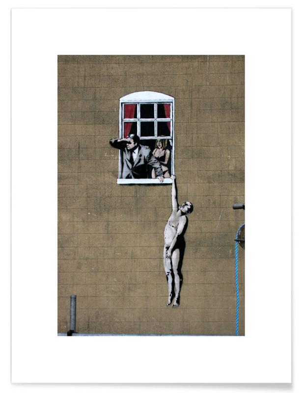 Banksy Well Hung Lover Poster