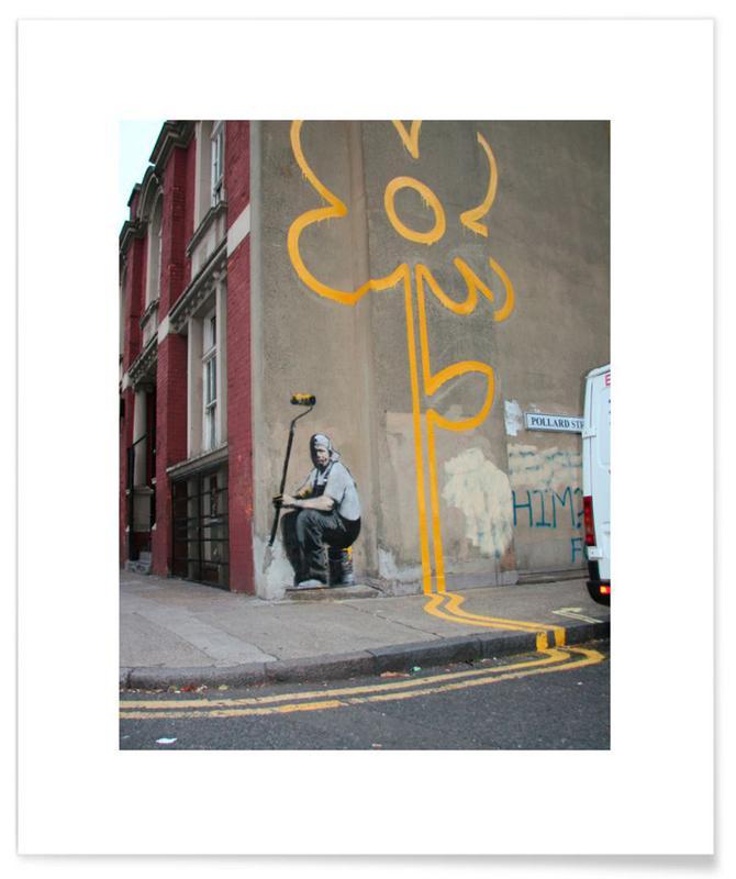 Banksy Flower Poster