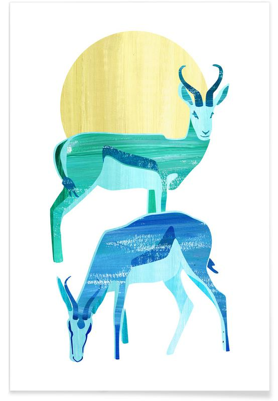 Antilopes in the sun -Poster