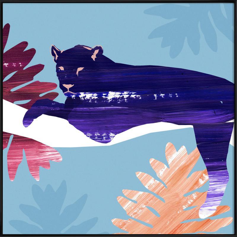 Black Panther -Bild mit Kunststoffrahmen