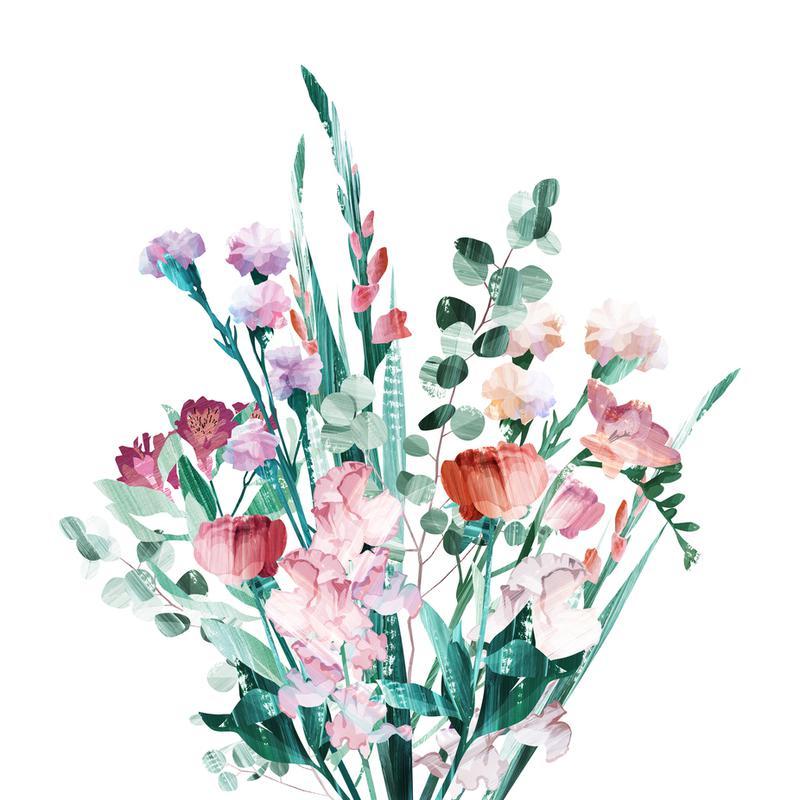 Spring Bouquet -Acrylglasbild