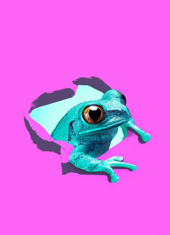 It's a frog -Leinwandbild