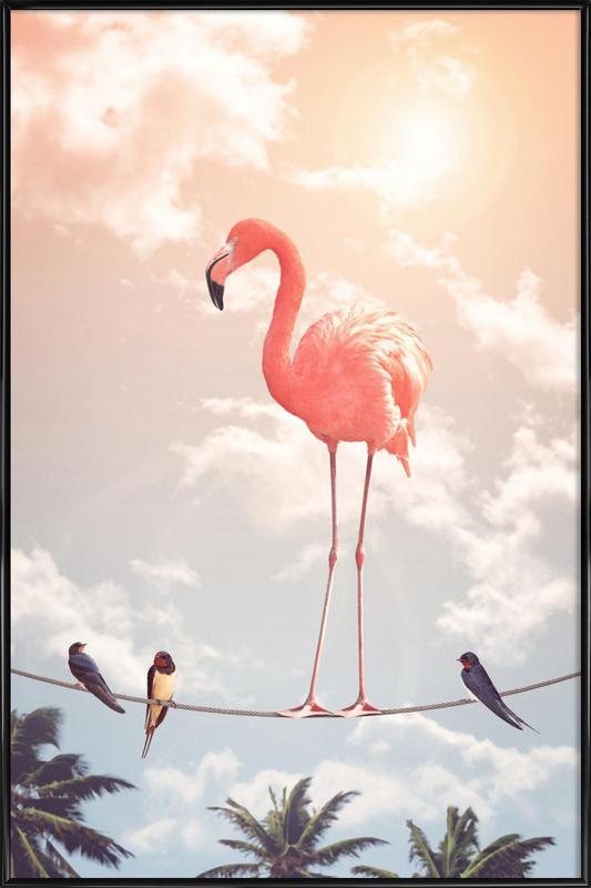 Flamingo and Friends ingelijste poster