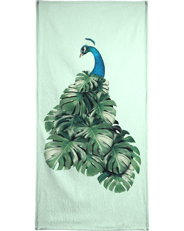 Monstera Bird Beach Towel