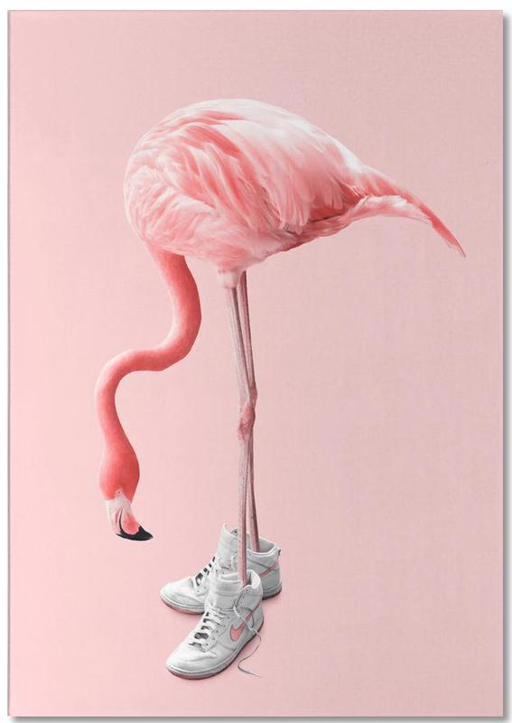Sneaker Flamingo -Notizblock