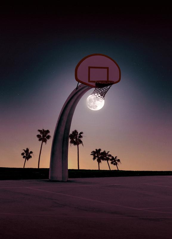 Basketmoon -Leinwandbild