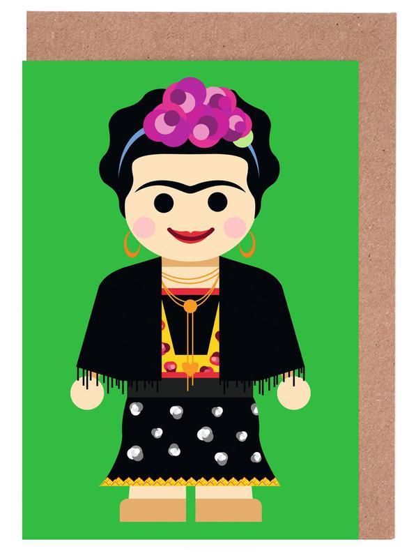 Frida Kahlo Toy Greeting Card Set
