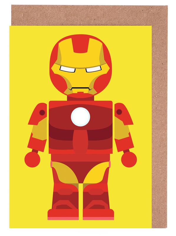 Iron Man Toy Greeting Card Set