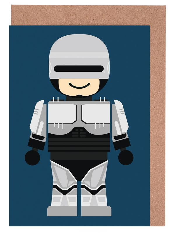 Robocop Toy Greeting Card Set