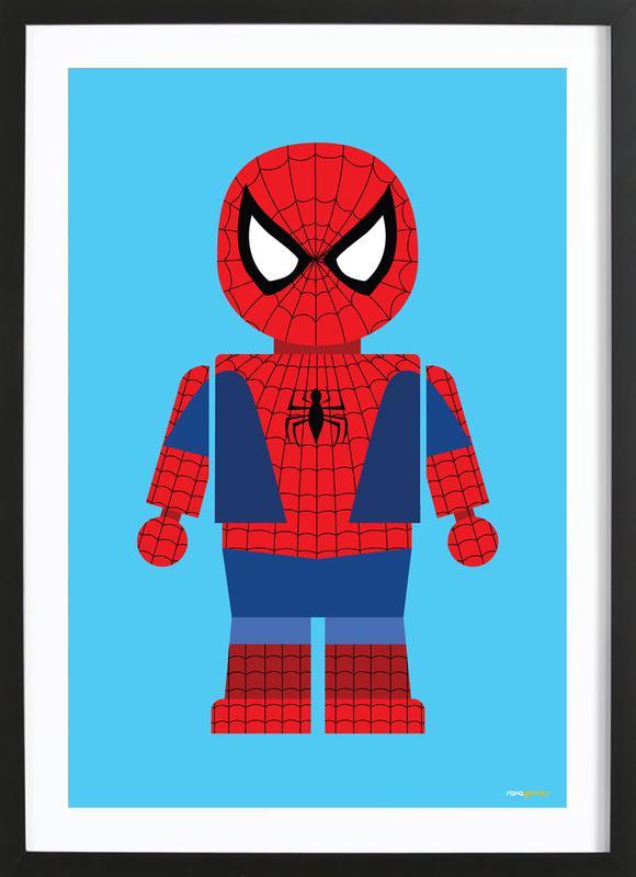 Spiderman Toy affiche sous cadre en bois