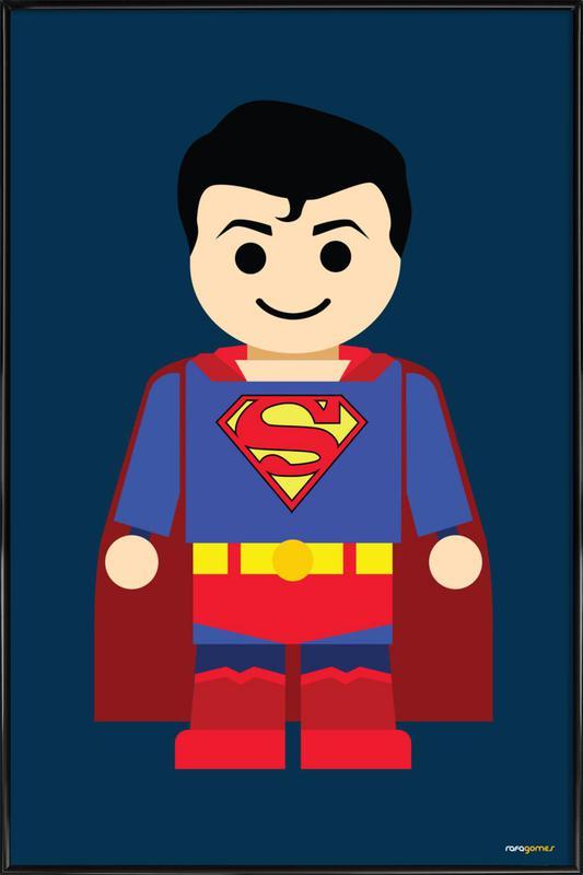 Superman Toy affiche encadrée