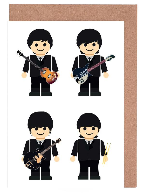 The Beatles Toy Greeting Card Set