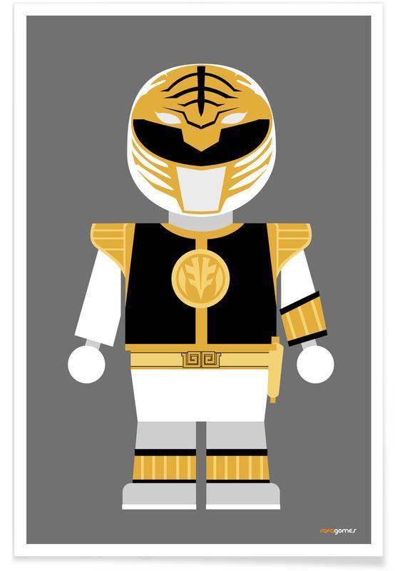 Power Ranger Toy White affiche