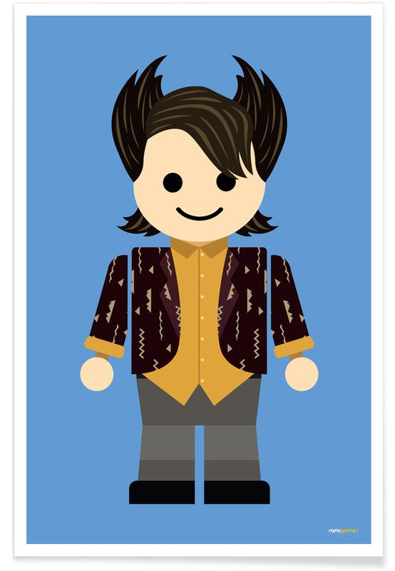 Chandler Bing Toy Poster