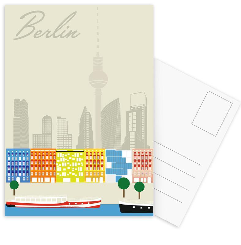 Berlin Skyline Postcard Set