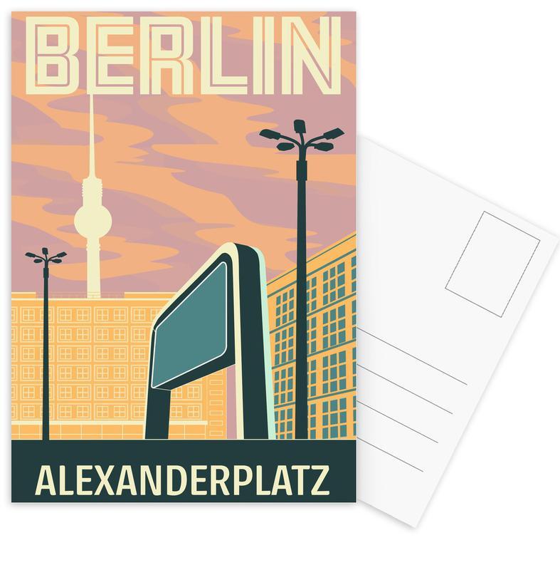 Berlin Alexanderplatz Postcard Set