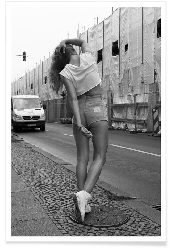 Girl on Street Poster