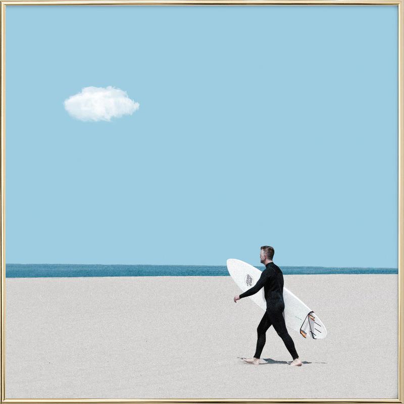 Beach Time -Poster im Alurahmen