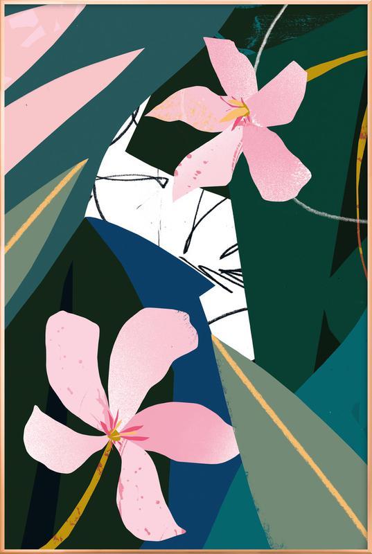 Oleander Poster i aluminiumram