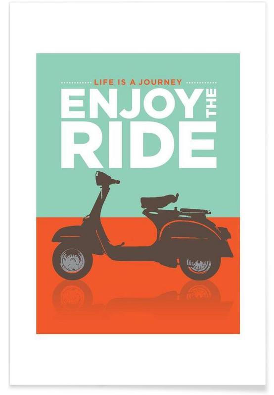 Enjoy the ride - Vespa poster