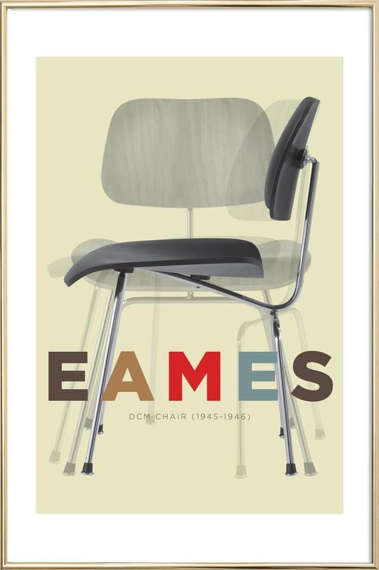 Eames DCM Poster in Aluminium Frame