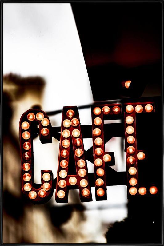 Café -Bild mit Kunststoffrahmen