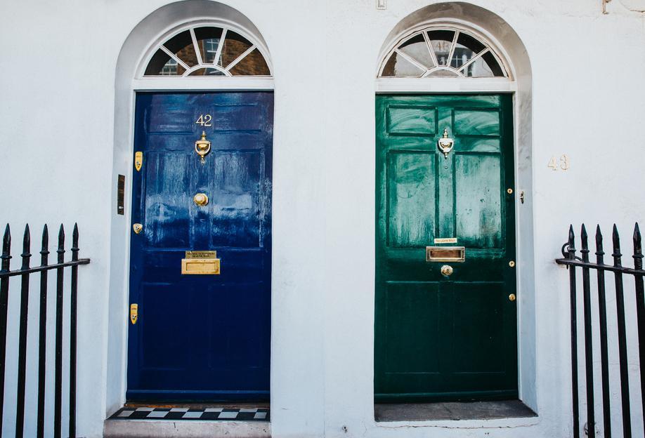 London Doors -Acrylglasbild