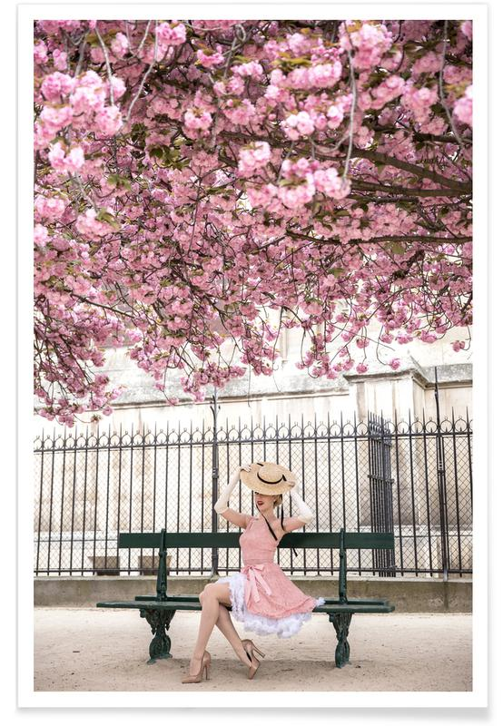 Lady at the Cherry Blossom affiche