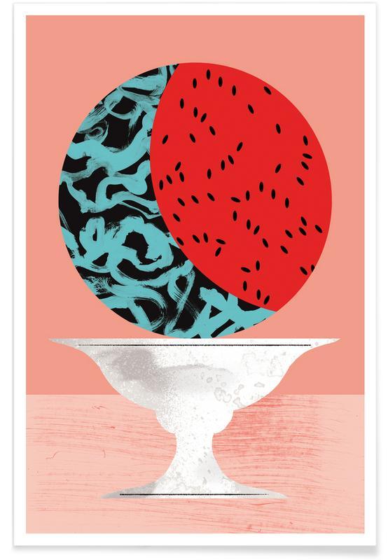 Pastèque - Illustration affiche
