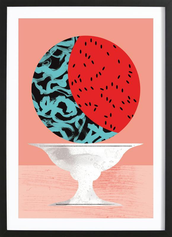 Watermelon -Bild mit Holzrahmen