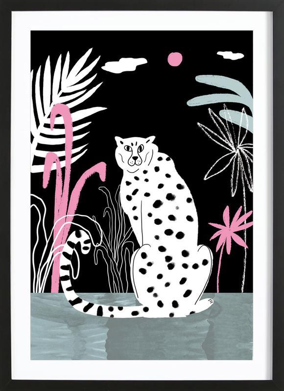 Tropicana - Cheetah and Jungle Framed Print