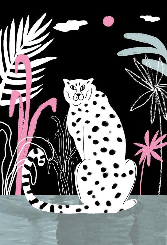 Tropicana - Cheetah and Jungle -Acrylglasbild