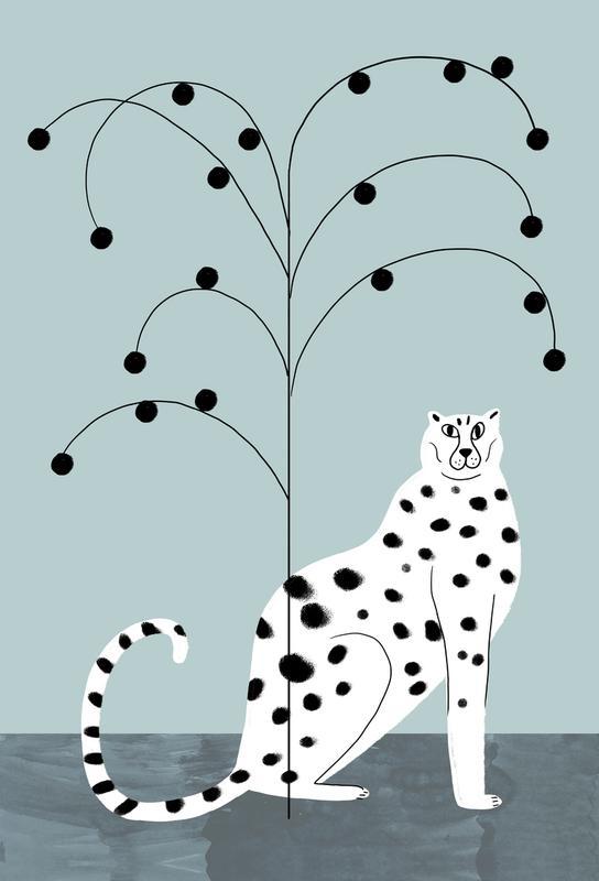 Tropicana - Cheetah and Tree -Alubild