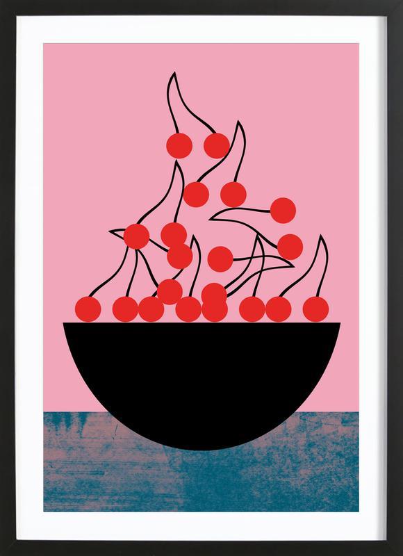 Cherry -Bild mit Holzrahmen