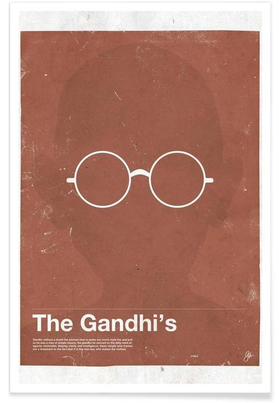 Gandhi Glasses Poster