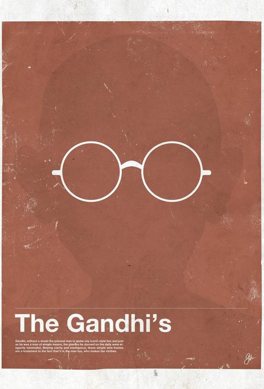 Framework Gandhi Acrylic Print
