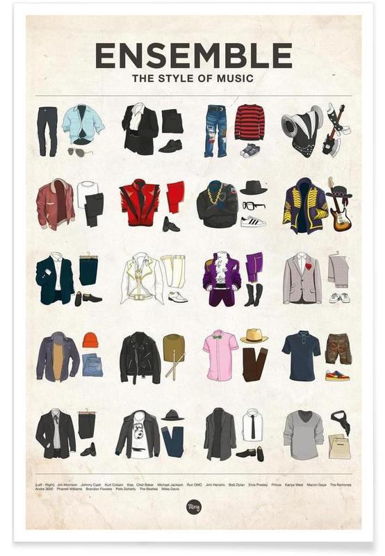 Famous Fashion Styles Poster