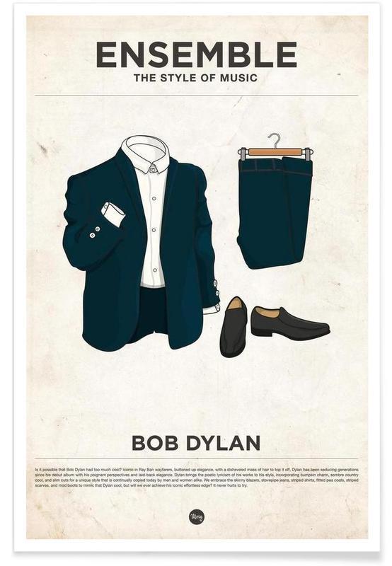 Bob Dylan Fashion Style Poster