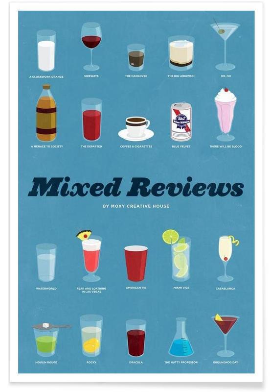 Cocktails célèbres affiche
