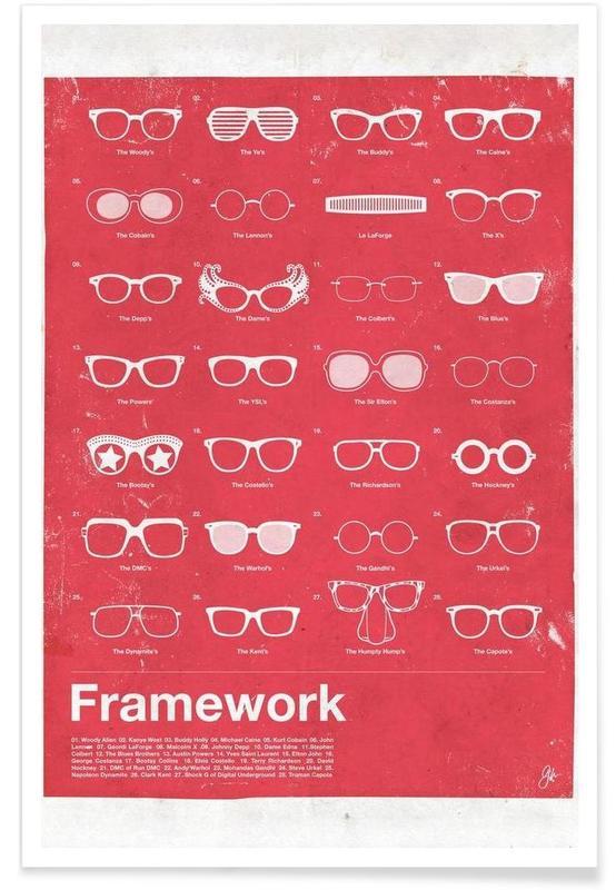 Berühmte Gläser -Poster