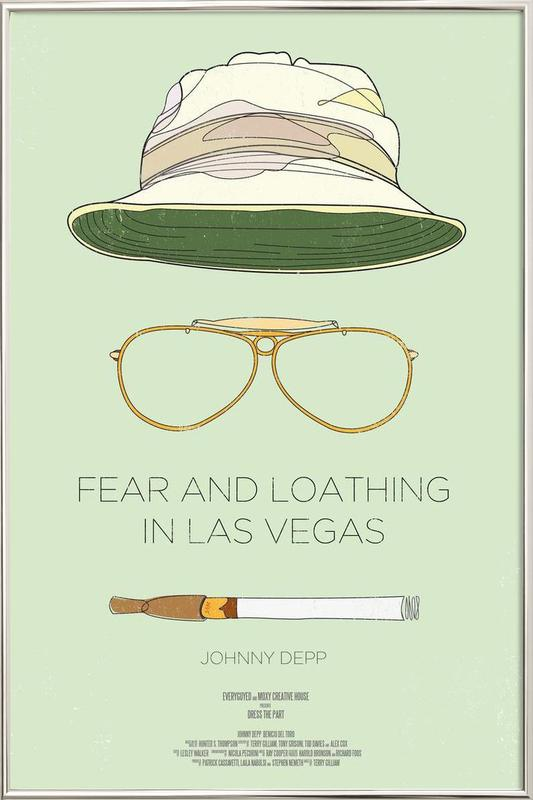 Fear and Loathing in Las Vegas Poster in Aluminium Frame