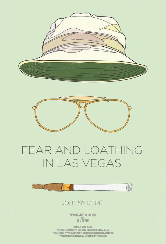 Fear and Loathing in Las Vegas Aluminium Print
